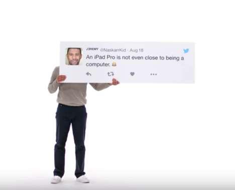 Tablet-Critiquing Commercials