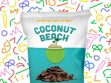 Chocolate Coconut Chips - Coconut Beach Offers Healthy Yet Deliciously Indulgent Crunchy Snacks