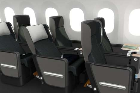 Enhanced Storage Airplane Seats - The New Qantas Premium Economy Seats are Comfortable and Organized