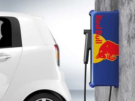 Energy Drink Car Chargers - The Red Bull Electric Car Charger Energizes EVs