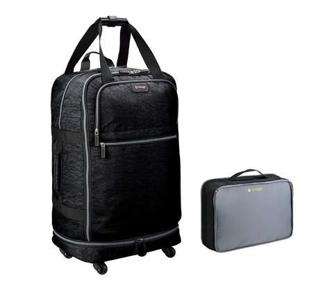 Collapsible Travel Suitcases - The Biaggi 'Zipsak' Folding Luggage Compacts Down into a Small Case