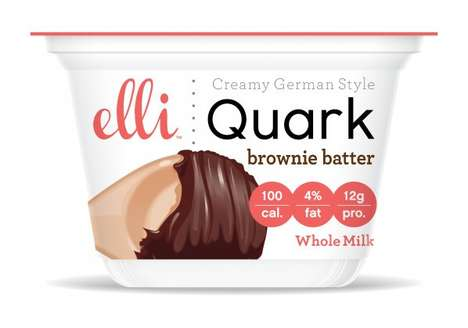"Dairy Dessert Cups - Elli Quark's Brownie Batter Snack is Described as ""Cheesecake in a Cup"""