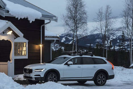 Automotive Pop-Up Hotels - The Volvo Get Away Lodge is a Partnership with Tablet Hotels