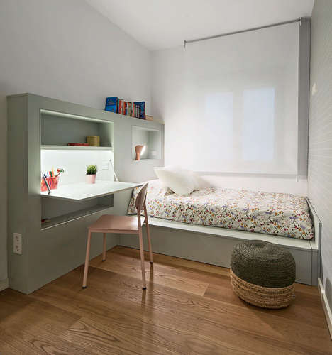 Desk-Embedded Bed Furniture - This Small Bedroom Furniture Piece Combines Necessary Items