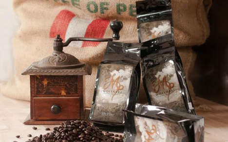 Wine-Infused Flavored Coffee Beans - This Coffee is from Molinari Private Reserve and Peete's Coffee