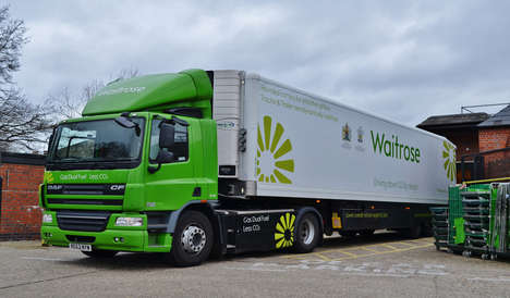 Food Waste Delivery Trucks - Sustainable Waitrose Grocery-Delivering Trucks Run on Biomethane