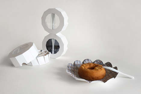 Handheld Donut Packaging - D'ONE is a One-Donut Container Concept That Unfolds to Form a Plate