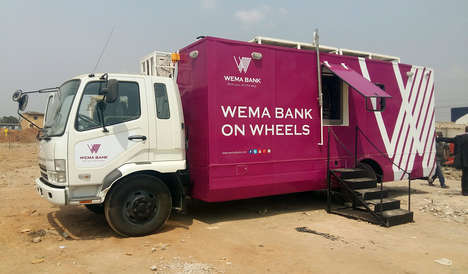 Eco Bank Trucks - The Wema Bank on Wheels Uses Solar Power and Reaches Underserved Nigerians