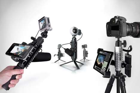 Three-in-One Photography Mounts - The 'PicaPod' Camera Tripod Mount is Also a Gimbal and a Mic Mount