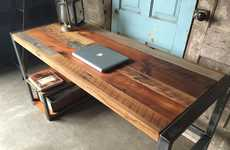Weathered Reclaimed Wood Desks