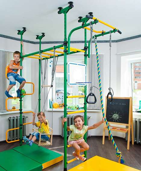 Indoor Gymnastic Play Sets - The 'PEGAS' Children's Indoor Gym Encourages Continuous Exercise