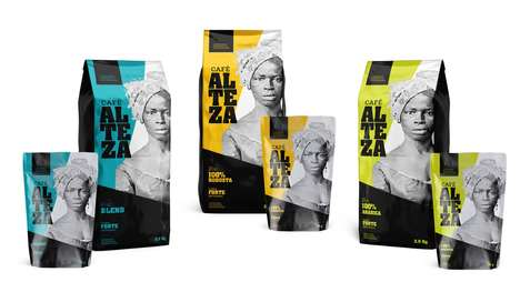 Strong Feminine Coffee Branding - The Conceptual Alteza Coffee Pouch Packaging is Visually Strong