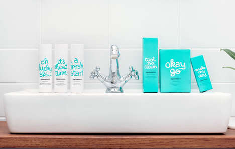 Optimistic Skin Care Branding - The Aquatadeus Skin Care Line is Friendly and Effective