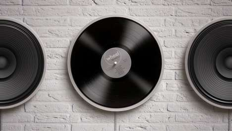 Illusionary Minimalist Record Players - The Miniot 'Wheel' Vinyl Record Player Has a Chic Aesthetic
