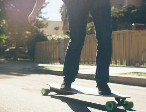 Affordable Electric Skateboards - The 'NUFF' Electric Motor Skateboard is for Beginners or Experts