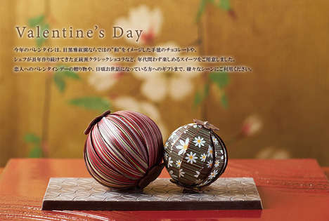 Lantern-Inspired Traditional Chocolates - These Temari Chocolates at Meguro Gajoen are Works of Art