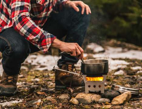 Outdoor Emergency Stoves - The 'QuickStove' Emergency Cooking Kit Cooks Food or Boils Water