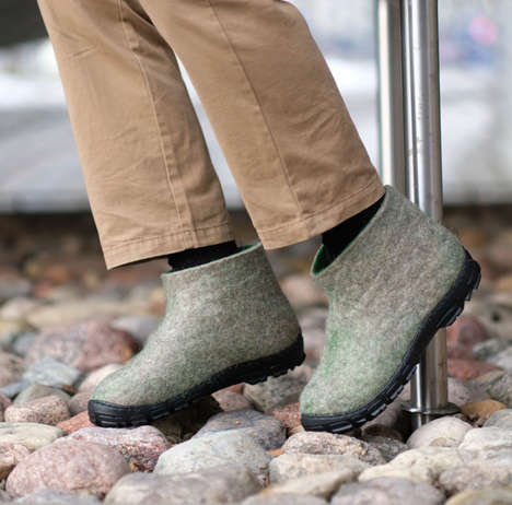 Travel-Friendly Wool Shoes - FELT FORMA Makes Wool Shoes with a Focus on Comfort
