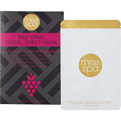 Wine-Infused Face Masks - Miss Spa's Newest Face Sheet Mask Features Red Wine Extract