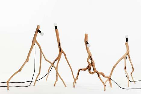 Skeletal Branch Lamps - The 'Bicho' Floor Standing Lamps Draw Inspiration from Wild Animals