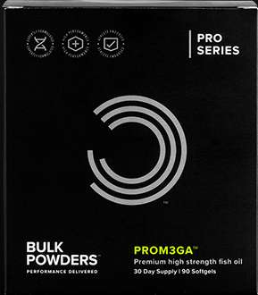 Premium Quality Dietary Oils - The Bulk Powders 'PROM3GA' Premium Fish Oil is Rich in Nutrients