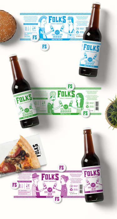 Multicultural Beer Branding - Folks Craft Brewery Celebrates Sharing Beer Across Cultures