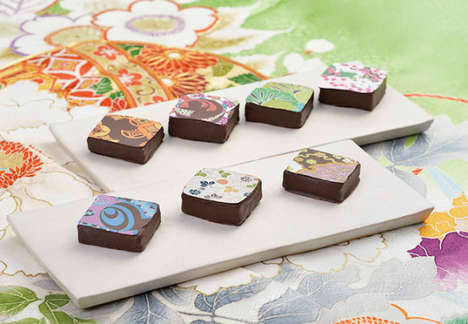 Cultural Motif Chocolates - Chocolat de Kissho's Japanese Sweets Boast Traditional Kimono Patterns