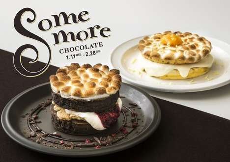 S'Mores Dessert Pancakes - The J.S. Pancake Cafe is Serving Decadent 'S'more Pancakes'