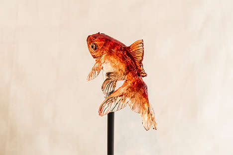 Artisanal Animal Lollipops - Ameshin Specializes in Creating Intricate Lollipop Art Sculptures