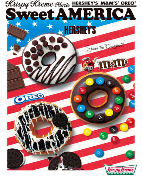 Candy-Coated Donuts - Krispy Kreme Japan's 'Sweet America' Donuts Celebrate All-American Confections