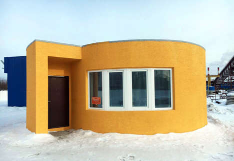 Rotund 3D-Printed Residences - Apis Cor's Printed House Took Just 24 Hours to Create