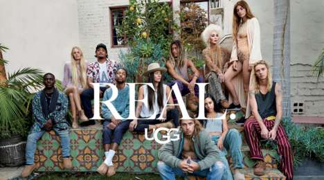 Californian Artist Campaigns - The Ugg 'Real' Ads Feature a Collective of Californian Influencers