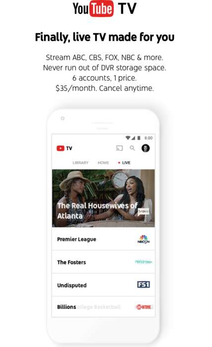 Live-Stream Social Cable Services - YouTube TV will Offer Dozens of Channels for One Monthly Fee