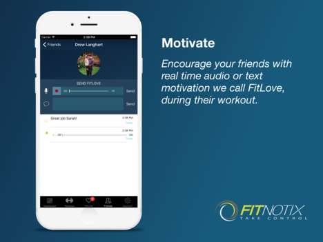 Motivational Social Fitness Apps - 'Fitnotix' Connects New Fitness Enthusiasts to One Another