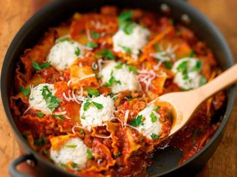 Hassle-Free Lasagna Recipes - This Skillet Lasagna is Quick to Prepare in Just 30-Minutes