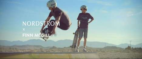 Tween Skateboarder Campaigns - Nordstrom Kids' Clothing Range is Endorsed by 15-Year-Old Finn McGill