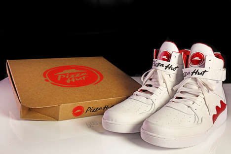 Pizza-Ordering Sneakers - The Pizza Hut 'Pie Tops' Order Pizza Delivery with a Single Press