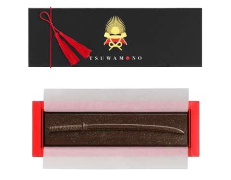 Warrior-Themed Chocolates - This Tsuwamono Candy Range by Mary's Resembles Weaponry and Armor