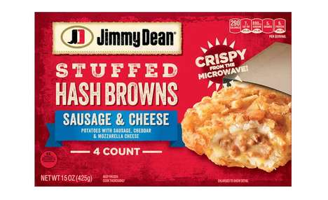 Stuffed Potato Breakfast Meals - The Jimmy Dean Stuffed Hash Browns Has a Whole Breakfast Inside