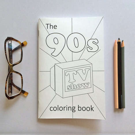 Era-Specific Coloring Books - The Card Architect's 90s Coloring Book Pays Tribute to Famous TV