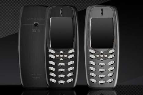 Titanium Exterior Cellphones - The Gresso Presso Nokia 3310 Phone is Crafted with Durable Materials