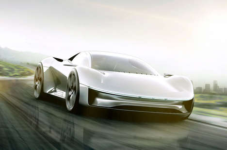 Sculpted Electric Sports Cars - This Apple Vehicle Design is Stunningly Edgy and Simple