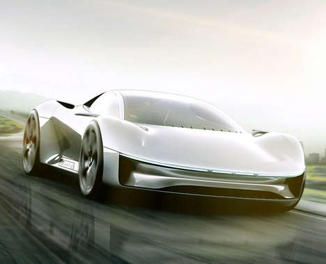 Sculpted Electric Sports Cars