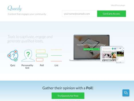 Engaging Content Creation Platforms - 'Queezly' Enables You to Create Web Content That's Engaging