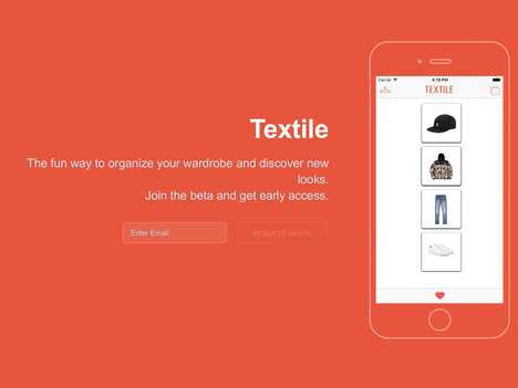 Clothing Organization Apps - The 'Textile' App Can Organize Your Wardrobe and Stylishly Plan Outfits
