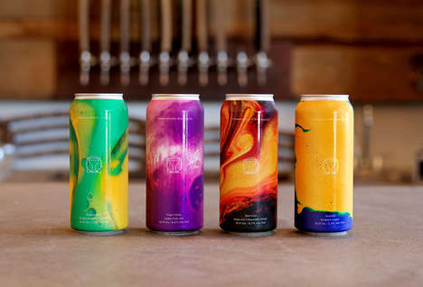 Ink Imagery Beer Cans - The Commonwealth Brewing Co. Offers Experiential Imagery on Its Cans
