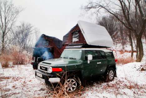Rooftop Automotive Tents - 'Skycamp' is a Tent for Cars That Pops Up on a Vehicle's Roof