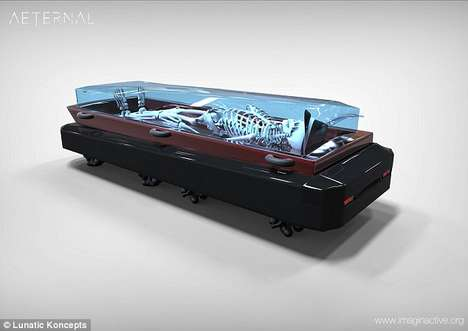 Autonomous Hearse Coffins - This Hologram-Equipped Hearse Offers Comfort for the Dead