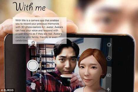Afterlife Selfie Apps - The 'With Me' App Digitally Recreates the Dead