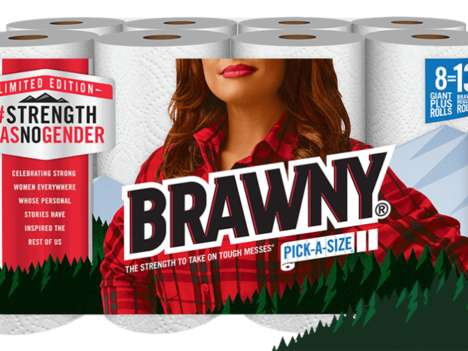 Empowering Paper Towel Packaging - These Limited-Edition Brawny Paper Towels Have a New Lumberjack